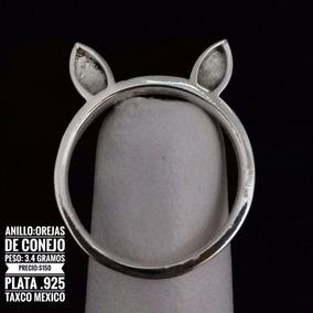 Anillo De Orejitas De Conejo 2 De Plata 925 Taxco México