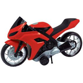 Moto Evolution 44cm Fricção 186 - Bs Toys - Vermelho