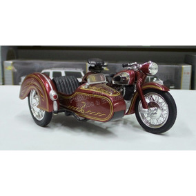 1:18 Moto Clasica Con Side Car Cafe New Ray