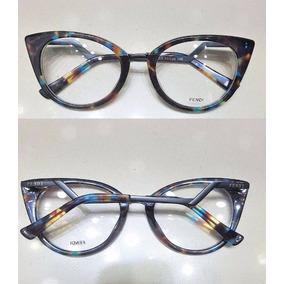 Oculos Armação De Grau Gatinho Em Acetato Novo Fendi -fe100. R  135 23ad3b30dd