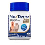 Pelo E Derme 750 30 Cápsulas Vetnil Vitamina Cães Gatos