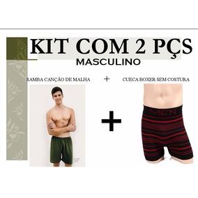 Kit Masculino 2 Peças Diferentes (1 Samba Canção E 1 Cueca )