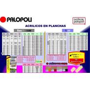 Acrilico Placa Esp 2.4mm 1.22x2.44 Blanco O Transparente