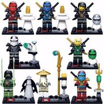 Kit Ninja Go Ninjas - 8 Bonecos - Pronta Entrega