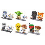 Star Wars Miniblocks Armables Lote De 6 Figuras Tipo Lego 3d