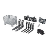 Bruder Vehicle, Accessories Box Type Pallet, Winch And Forks