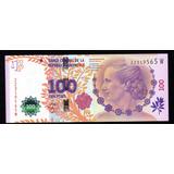 Billete Argentina 100 Pesos Evita Serie W Sin Circular 2017