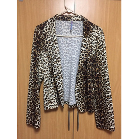 Blazer/chaqueta De Leopardo De Mujer Como Nueva. Talla Xl