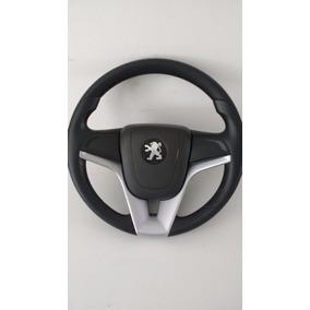 Volante Esportivo Cruze + Cubo Peugeot 106 206 306 Prata