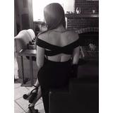 Excelente Vestido Espalda Cruzada, Fiesta, Casamiento, 15
