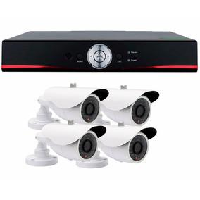 Kit Segurança Dvr Ahd 4 Canais + 4 Câmera Infra 36 Leds Hd