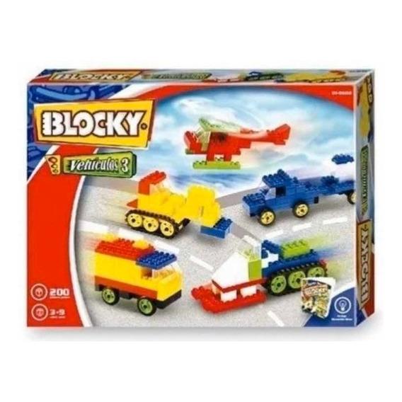 Blocky Vehículos 3 X 200 Piezas