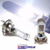 Lampada Led H4 Moto Super Branco Efeito Xenon 8000k Barato