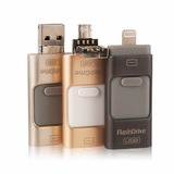 Memoria Usb Flash Drive 3en1 Pc / Android / Ios Iphone Ipad