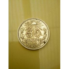 Moneda Antigua De 50 Centavos Resplandor 1945