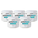 5 Potes Whitemax Clareador Dental 100% Natural White Max