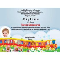 Kit Imprimible Diplomas Escolares Con Fotos Tarjeta Etiqueta
