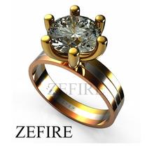 Anillo Compromiso De Oro Y Zirconia Swarovski