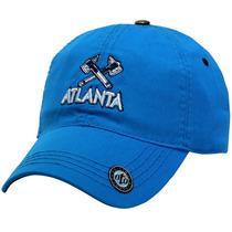 Gorra Clasica Atlanta Visera Curva Azul En Algodon 100%