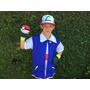 Fantasia Cosplay Pokémon Ash Completa - Frete Gratis