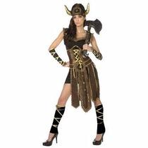 Disfraz De Vikinga Vikingo Guerrera Para Damas Envio Gratis