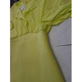 Vestido Lezalez Neoprene Amarelo Pinacolada