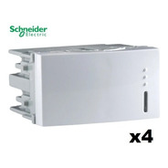 Interruptor Unipolar X4 10a 250v Blanco Schneider Wda101001
