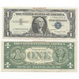 Billete 1 Dollar Certificado Plata Serie L5803325a Año 1957