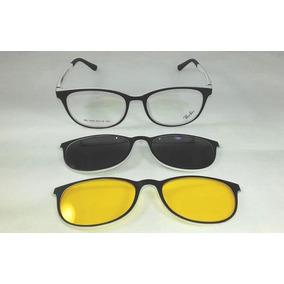 Armação De Oculos De Fibra De Carbono Com Clip On Hb - Óculos Preto ... 6f2cd6f4b9
