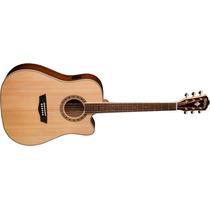Guitarra Washburn Acustica Wd10 Sce Tapa Sólida 12cuotas