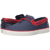 Zapatillas Panchas Lacoste Azul Gazon Deck 216 Originales