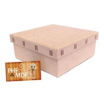 Caixa Passa Fita G 20x20x8 Mdf Crú - Decoração - Presente