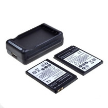Sprint Htc Evo 4g 2x (dos) De La Batería + Cargador De Viaj