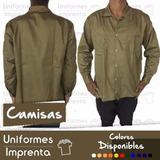 Camisa Manga Larga Drill Soldador Obrero Industrial Fabrica