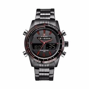 Relógio Masculino Dual Time Quartz Sport A Prova D`água 30 M