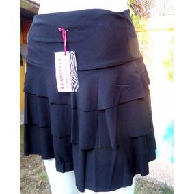 39c5f9869c Falda Puntas Negra Lycra - Faldas de Mujer en Mercado Libre Chile