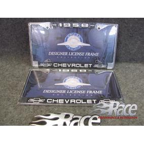 Chevrolet 58 Par Portaplacas Metalico Apache Impala Bel Air