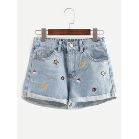 Short Mezclilla Shorts Dama Shorts Mujer Ropa Mujer