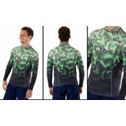 Camiseta Surf Esportes Aquáticos Proteção Solar Pena Militar