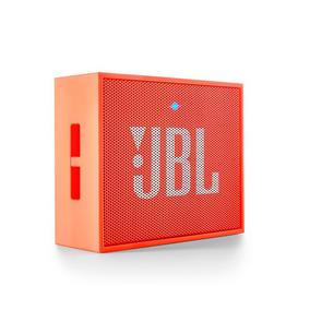 Caixa De Som Bluetooth Jbl Go Bateria Recarregável Laranja