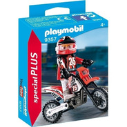 Playmobil Motocross Y Figura Jeg 9357 El Gato
