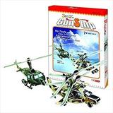 Cubicfun Rompecabezas 3d Gunship Helicopteros 66 Pz C025h