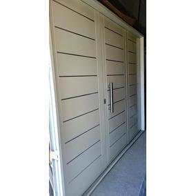 Portón Garage Doble Chapa Inyectado 240x200 Apliques Atex