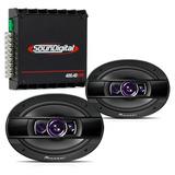 Kit Módulo Soundigital Sd400 400w + Alto Falante 6x9 Pioneer