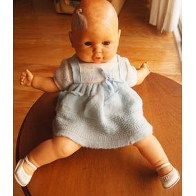 Antiga Boneca Meu Bebê Estrela Olhos Castanhos 46 Cm