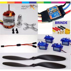 Kit Combo 2836/8 Motor + Esc 40a + Servos + Hélices + Ext Y