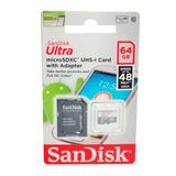 Memoria Micro Sd 64gb Sandisk Original Clase 10