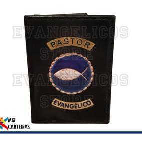 Carteira Pastor Evangélico Luxo (logo Jesus) 01