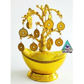 Arbol De La Abundancia Con Monedas Chinas De Buena Suerte