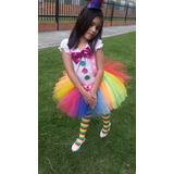 Disfraz Disfraces Payasita Clown Niña Tutu